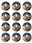 12 x  Personalised Your Photo on Icing Cake Top Topper 2.13 inches each Pre-cut